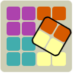 Ruby Square - casual game - icon