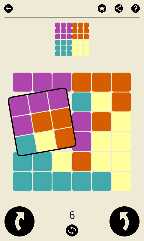 Ruby Square - casual game - screenshot